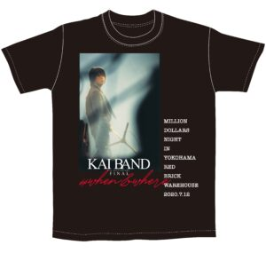 <送料込み>KAI BAND 45th ANNIVERSARY FINAL 2020 Tシャツ&マスクセット (黒Tシャツ)