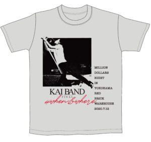 <送料込み>KAI BAND 45th ANNIVERSARY FINAL 2020 Tシャツ&マスクセット (グレーTシャツ)